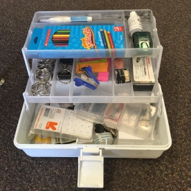 inside view of tackle box